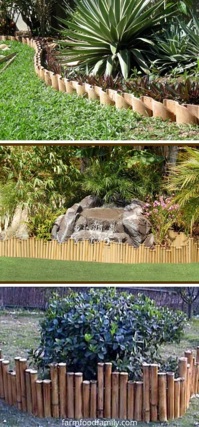 Bamboo garden edging ideas