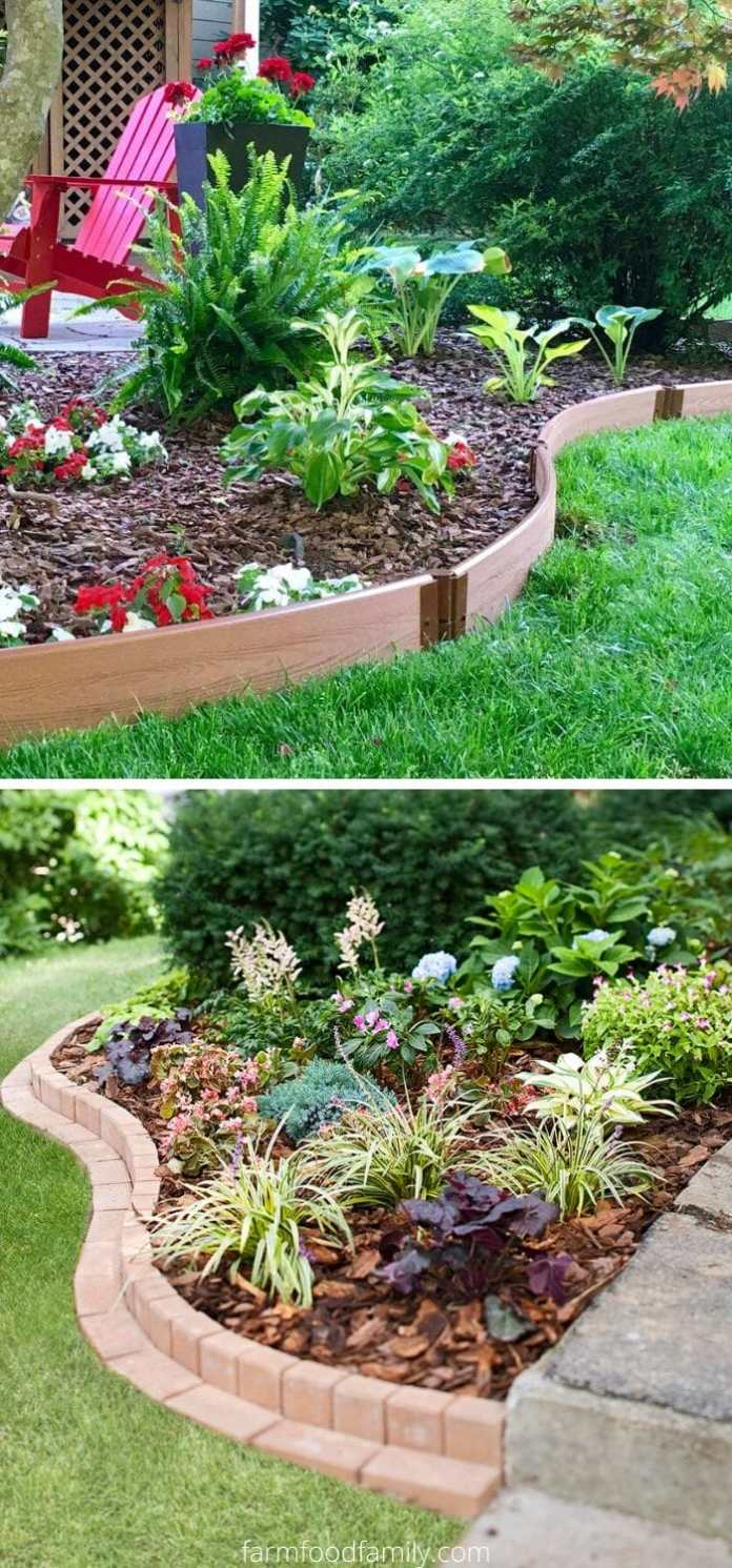 Curve garden edging ideas