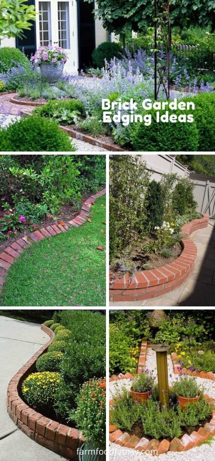 Creative brick garden edging ideas