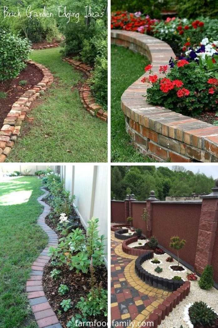 Inexpensive brick garden edging ideas