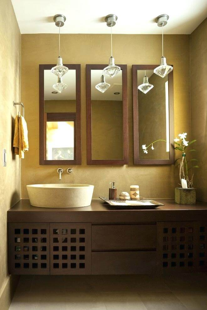 Use Mirrors to Create the Illusion of Space | Easy Ways to Make a Small Bathroom Look Larger | FarmFoodFamily.com