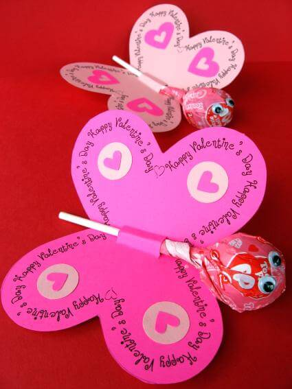 Ideas for Kids' Craft Projects – Homemade Valentine's Day Cards | Printable Butterfly Valentine