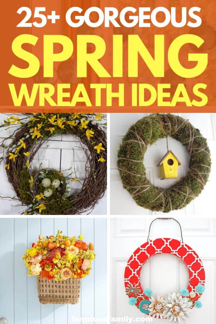 Easy and simple Spring wreath ideas