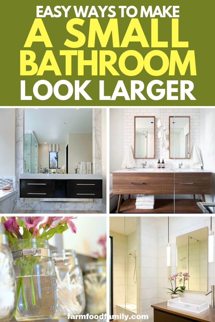 Easy Ways to Make a Small Bathroom Look Larger