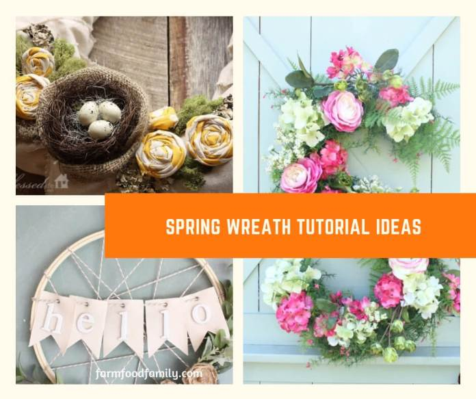 Gorgeous diy spring wreath ideas