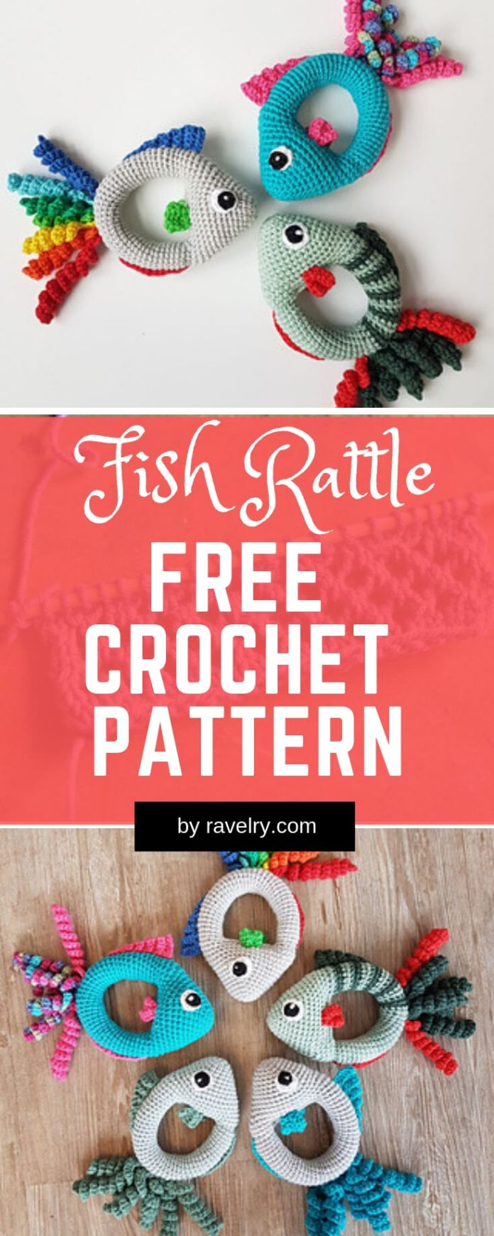 Fish Rattle | Rattle Free Crochet Patterns For Baby