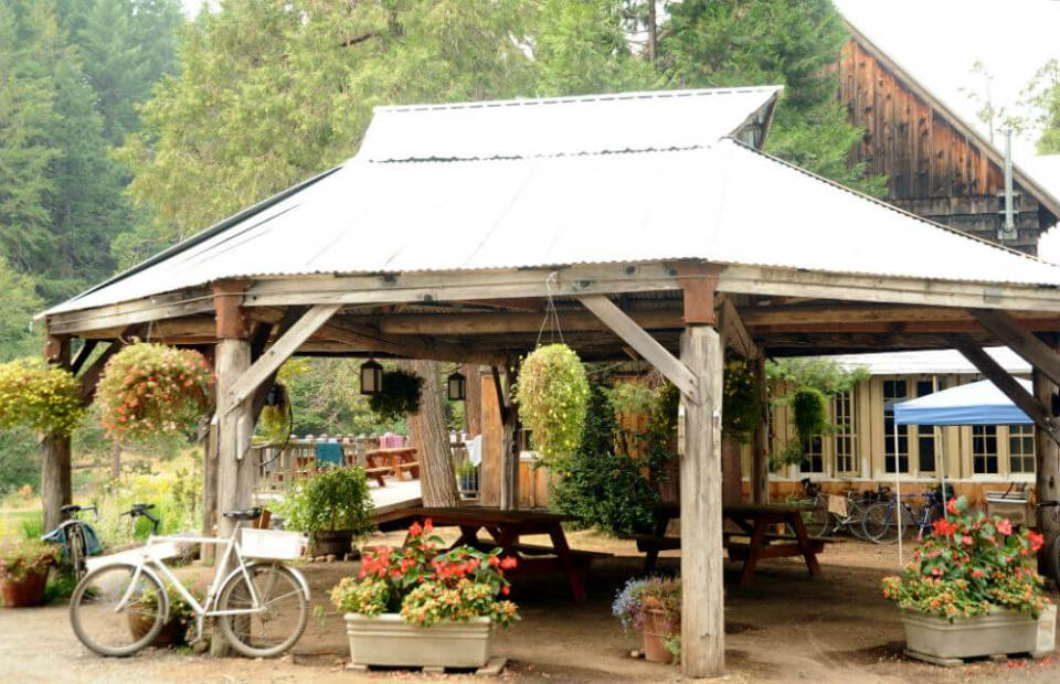 Metal roof wood gazebo