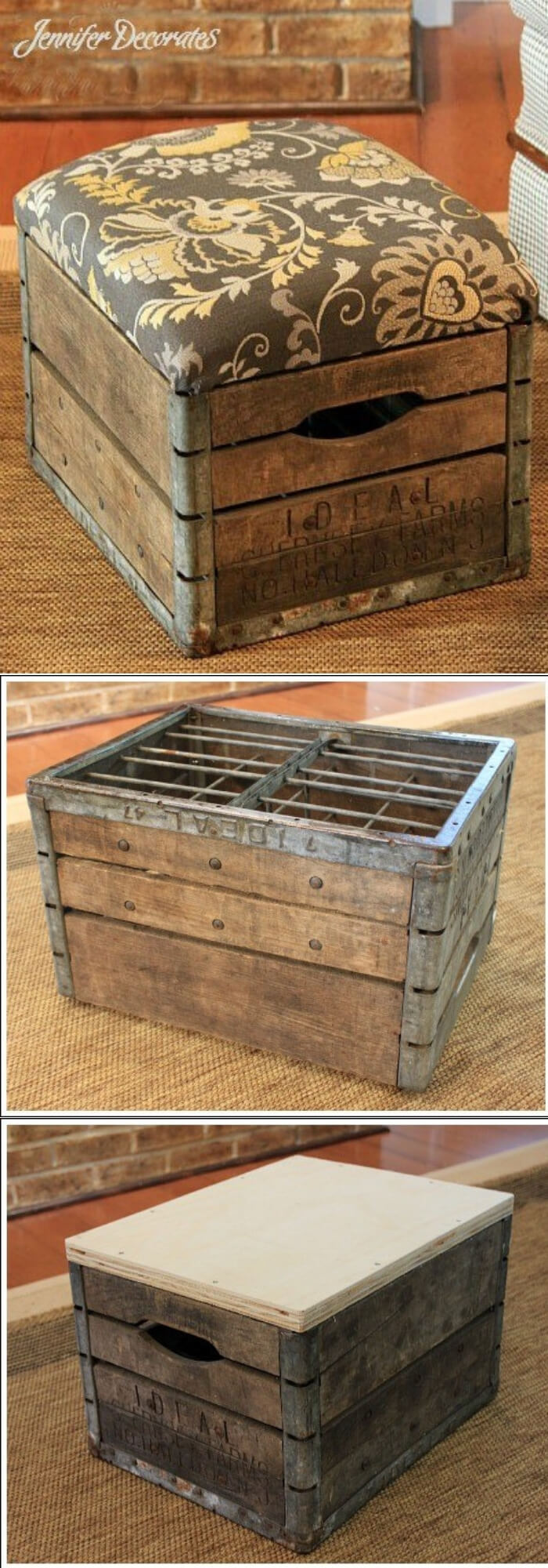 Make an Ottoman | Best DIY Wood Crate Projects & Ideas
