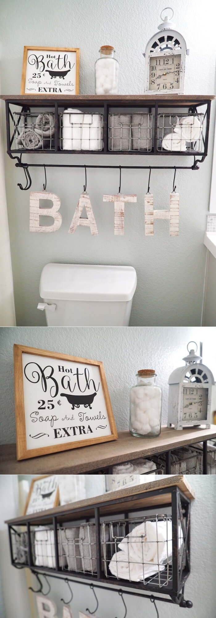 Bathroom Storage Makeover | Best Over the Toilet Storage Ideas for Bathroom