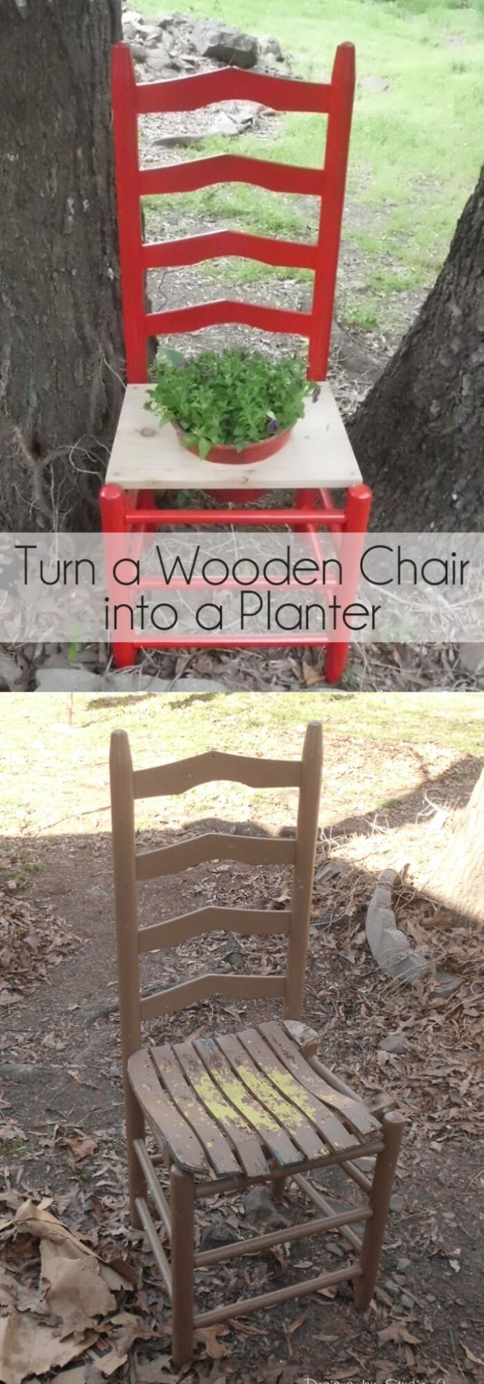 Turn a wooden chair into a planter | Creative Upcycled DIY Chair Planter Ideas For Your Garden