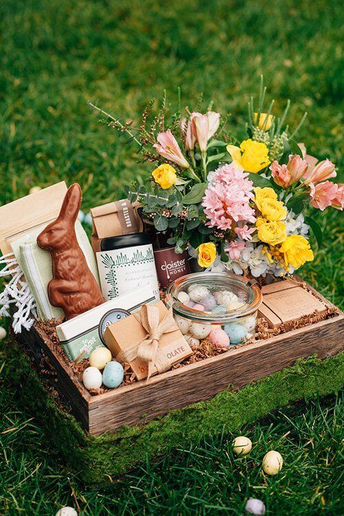 Wooden Easter Basket | Creative Easter Garden Projects & Ideas Your Kids Will Love