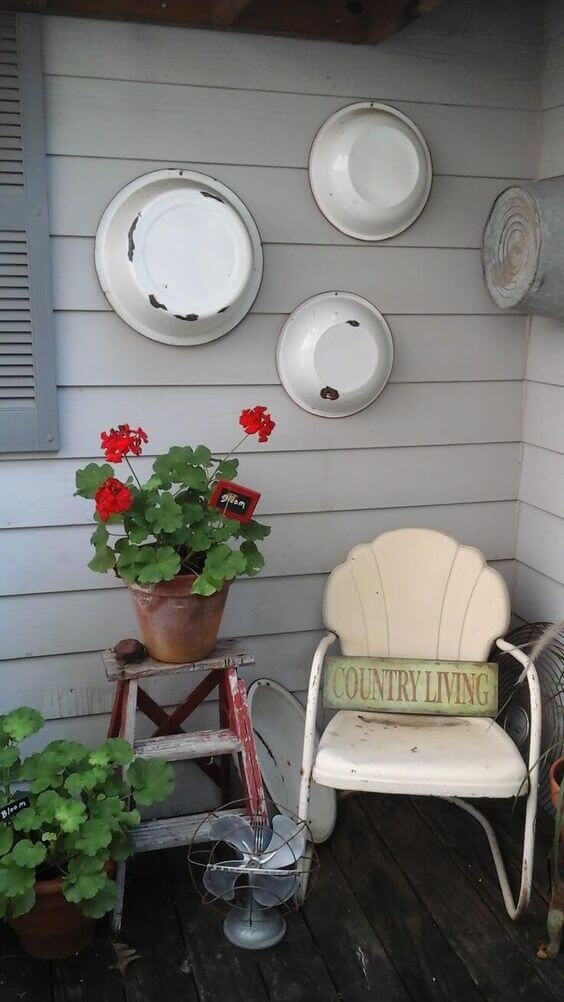 Metal Pans Hanging | Best Outdoor Wall Decor Ideas