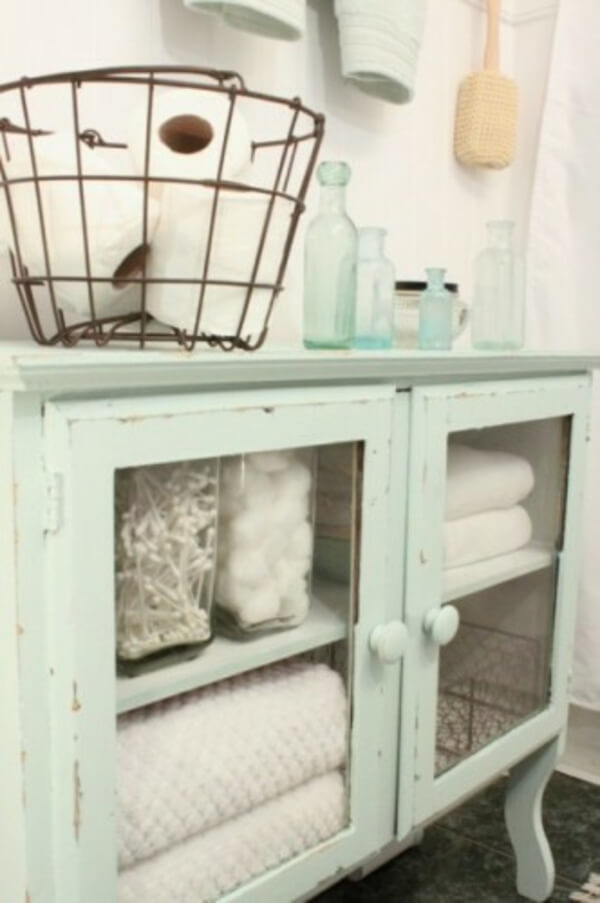 Reuse old furniture | Best Small Bathroom Storage Designs & Ideas