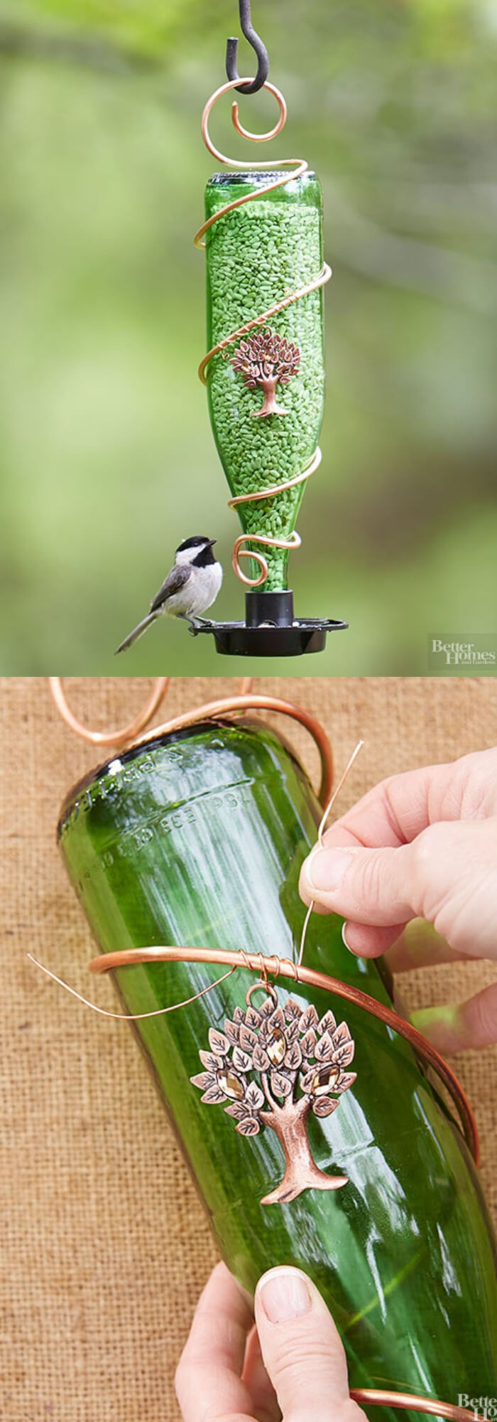 Recycled glass bottle
