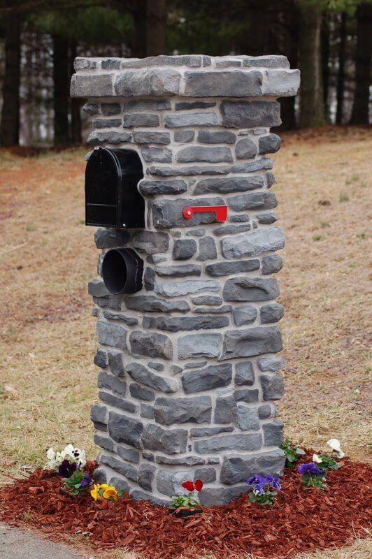 Brick mailbox | Best Mailbox Landscaping Ideas