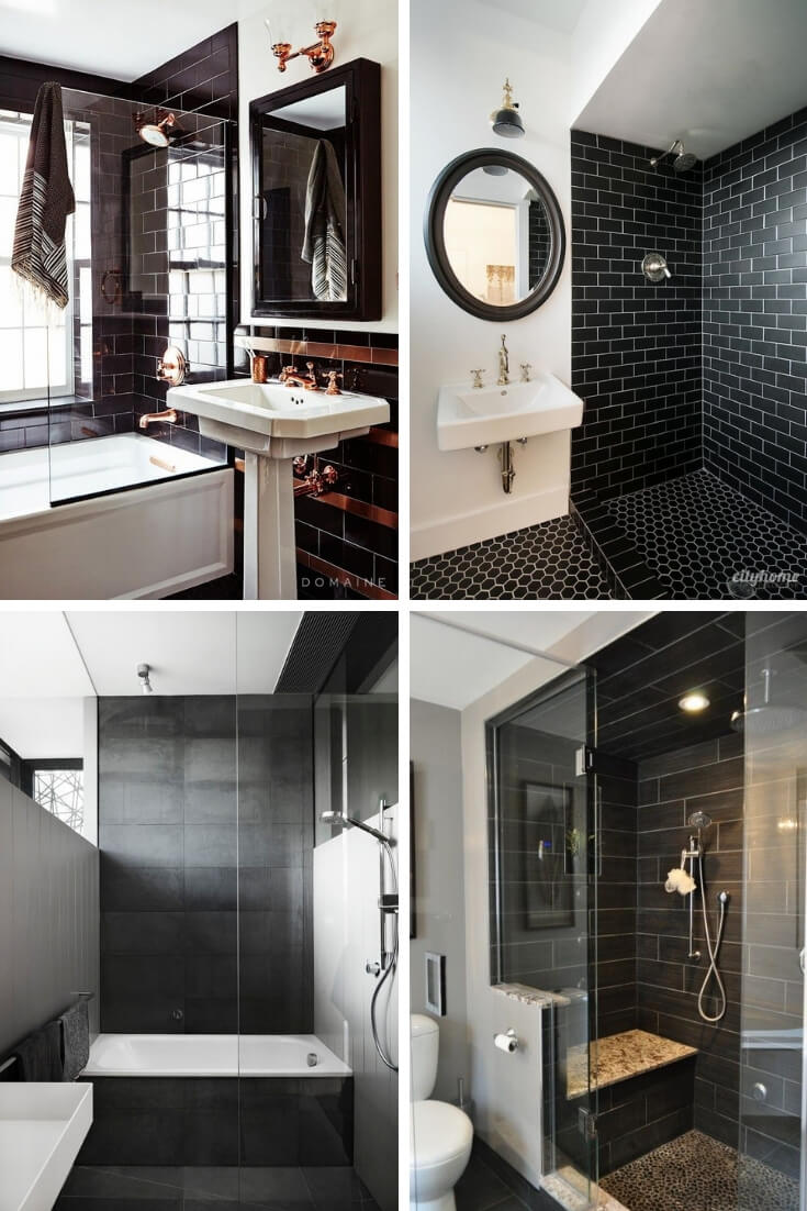 Black Bathroom Tile Ideas 2 | Bathroom Tile Design: Ideas for Incorporating Tile into the Bathroom Design