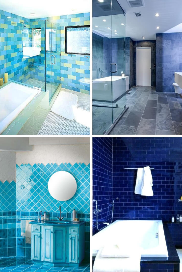 Blue Bathroom Tile Ideas 3 | Bathroom Tile Design: Ideas for Incorporating Tile into the Bathroom Design