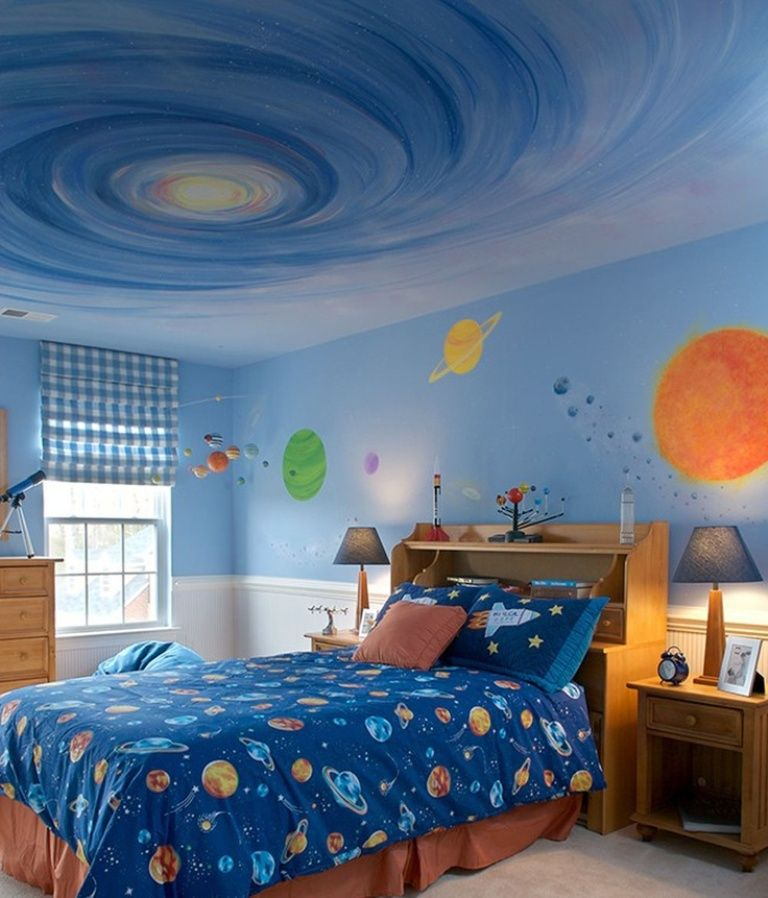 Space Themed room   Cool Bedroom Ideas For Boys