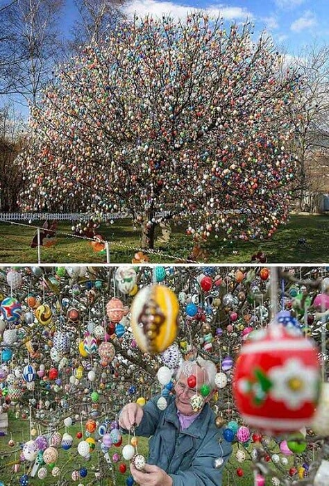 Huge Easter Egg Tree   Creative Easter Garden Projects & Ideas Your Kids Will Love