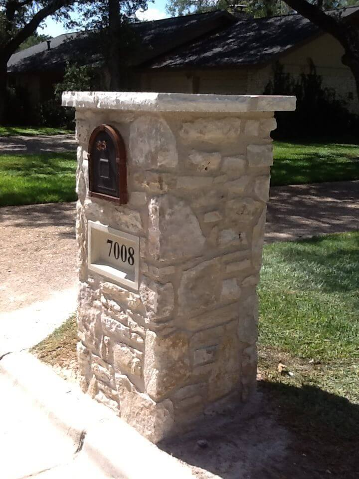 stone mailboxes | Best Mailbox Landscaping Ideas