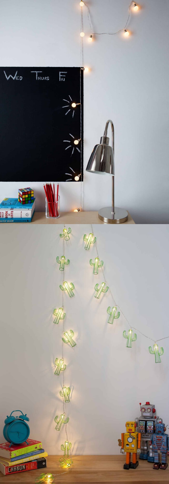 Study corner | Best Fairy Light Decoration Ideas