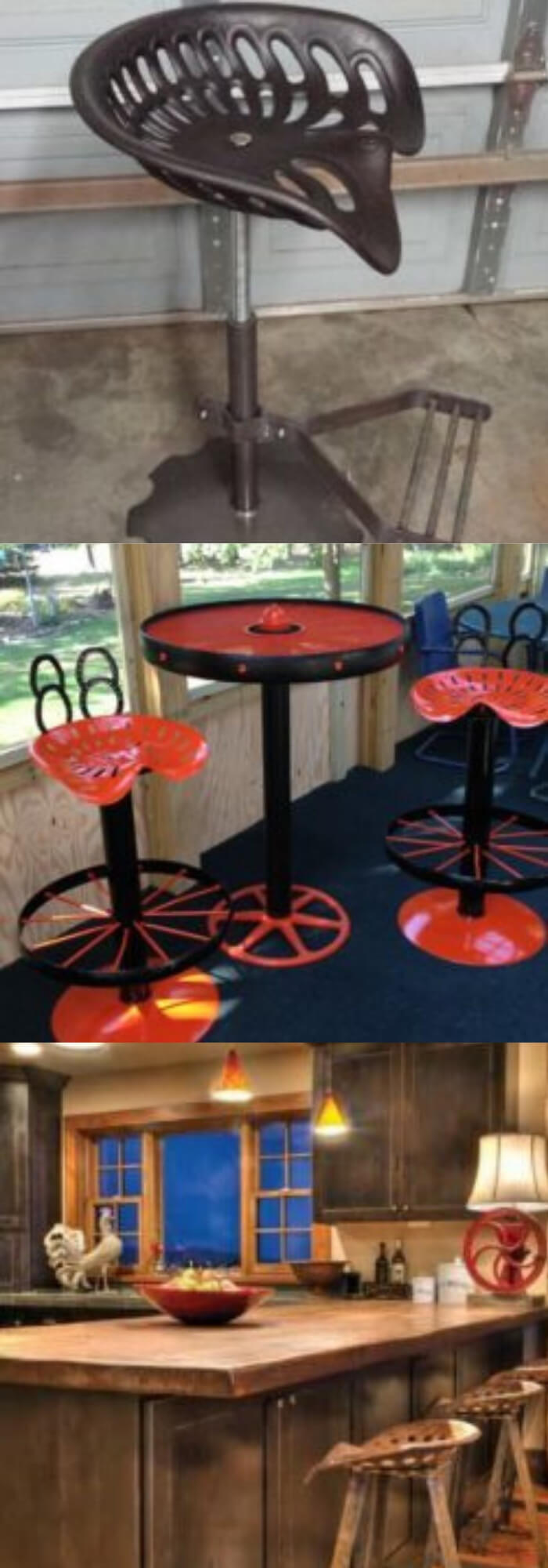 Tractor Seat Bar Stool | Best DIY Repurposed Garden Tools Ideas | Garden Craft Ideas