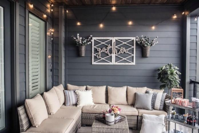 Gather Sign | Best Spring Porch Sign Decor Ideas & Designs