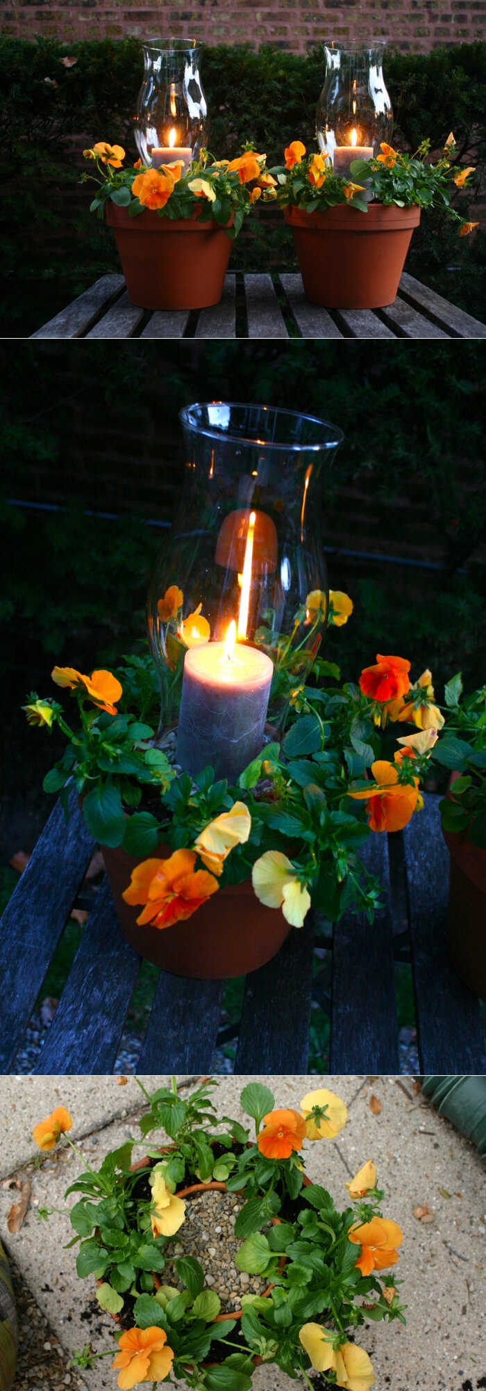 Potted Candle Planters | Trending & Vintage Porch Lighting Ideas & Designs | FarmFoodFamily.com