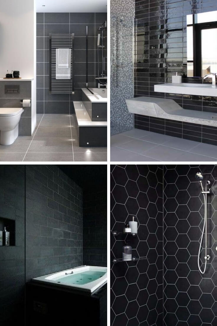 Black Bathroom Tile Ideas 1 | Bathroom Tile Design: Ideas for Incorporating Tile into the Bathroom Design