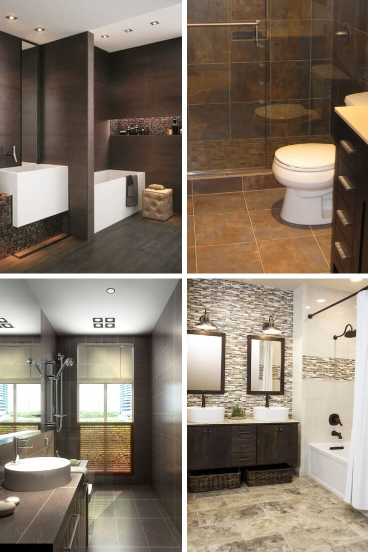 Brown Bathroom Tile Ideas 1 | Bathroom Tile Design: Ideas for Incorporating Tile into the Bathroom Design