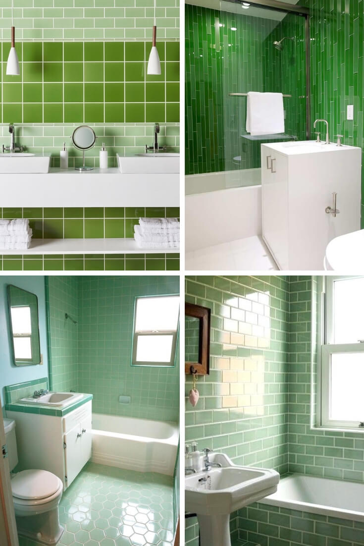 Green Bathroom Tile Ideas 2 | Bathroom Tile Design: Ideas for Incorporating Tile into the Bathroom Design