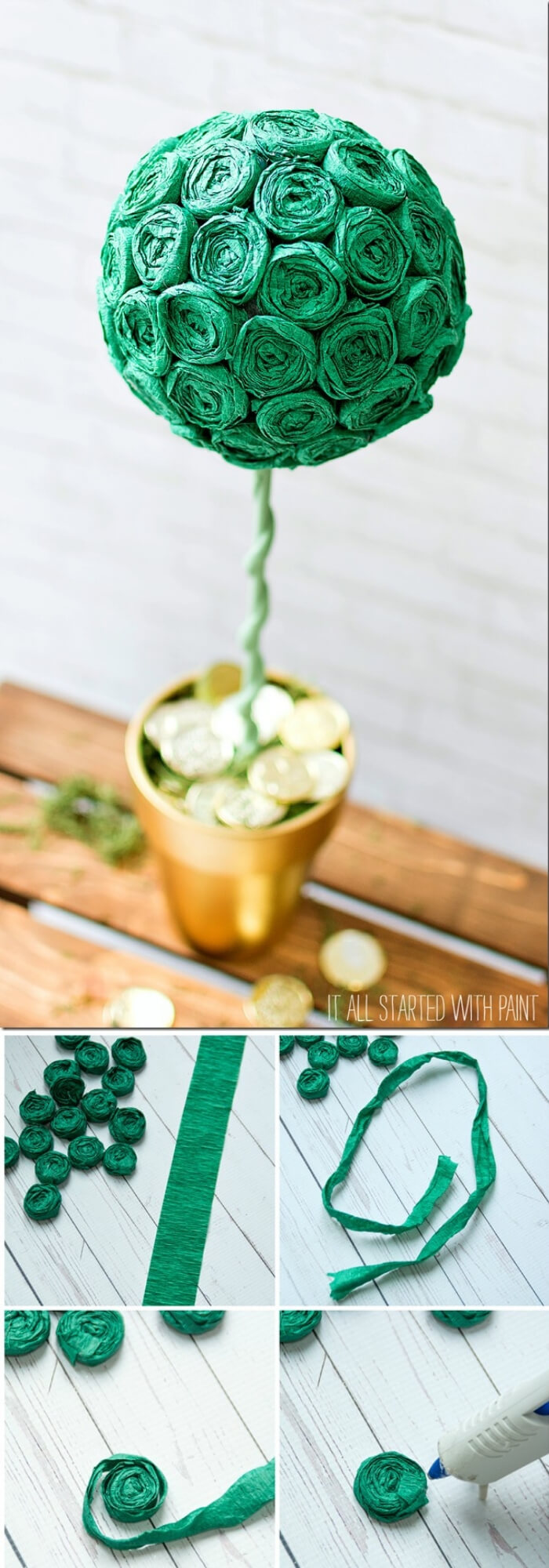 Dollar store topiary for St. Patrick's Day | Creative St. Patrick's Day Decor Ideas