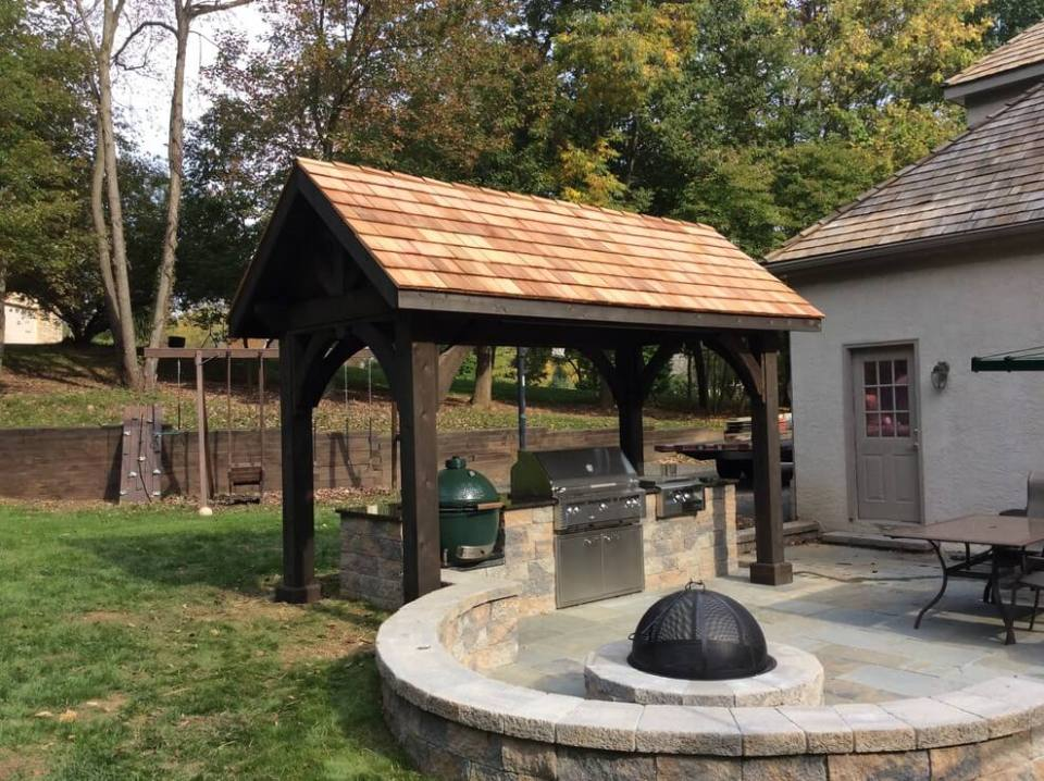 Farmhouse Backyard Pavilion ideas