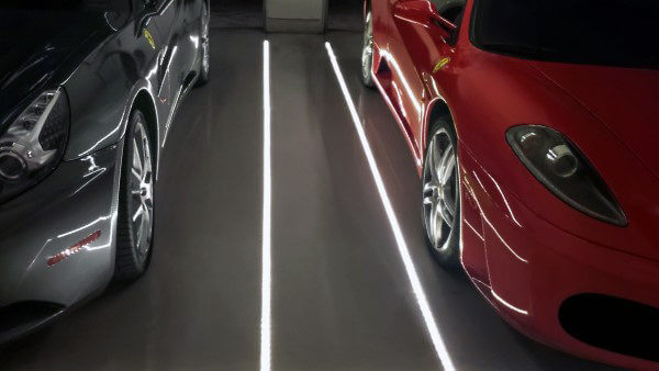 In floor led lighting | Best Garage Lighting Designs & Ideas