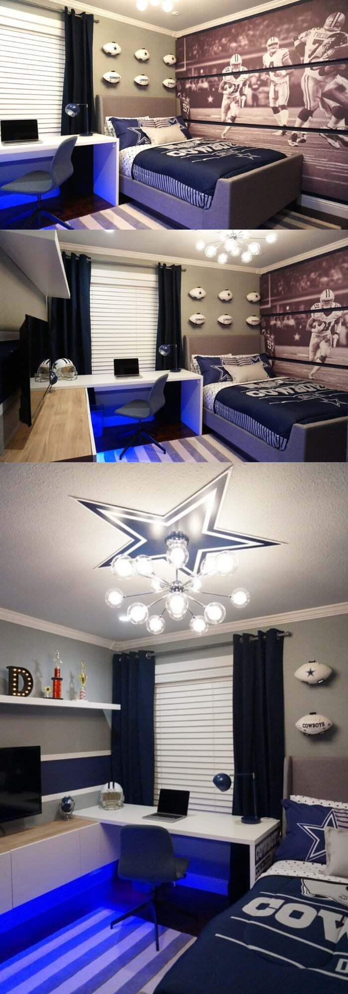 Sports Theme | Dallas Cowboys Bedroom | Cool Bedroom Ideas For Boys