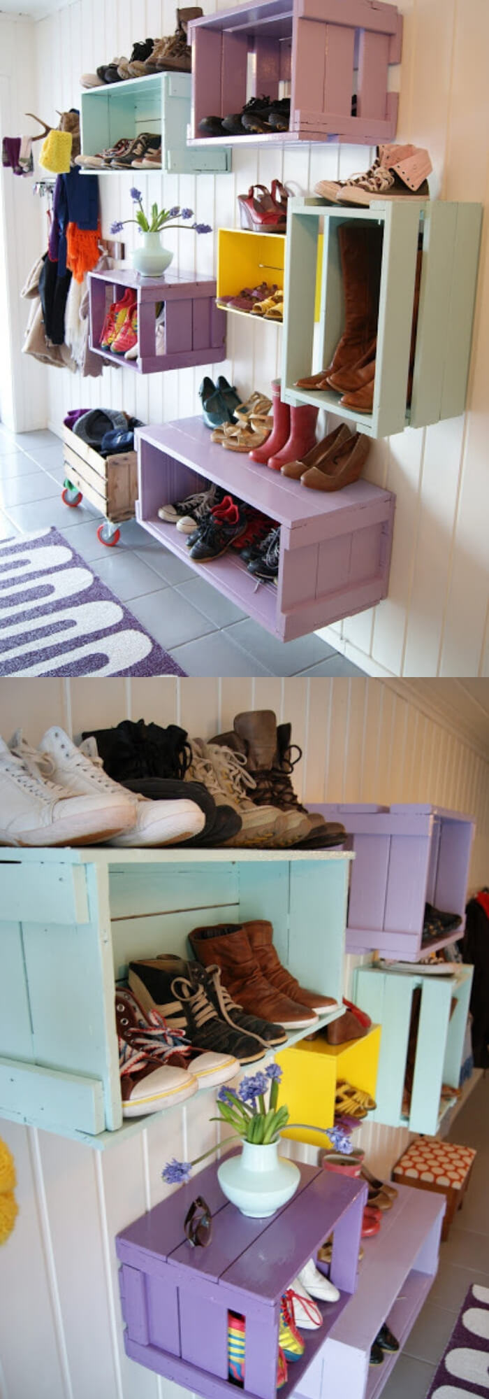 Mudroom Storage Cubes | Best DIY Wood Crate Projects & Ideas