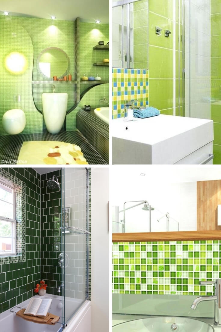 Green Bathroom Tile Ideas 1 | Bathroom Tile Design: Ideas for Incorporating Tile into the Bathroom Design