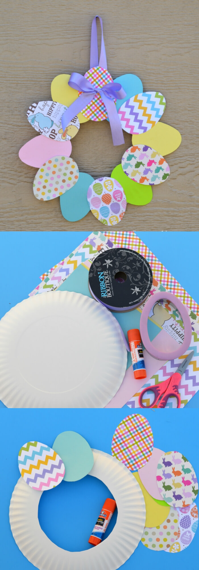 paper Easter wreath | Easy & Fun Easter Crafts For Kids