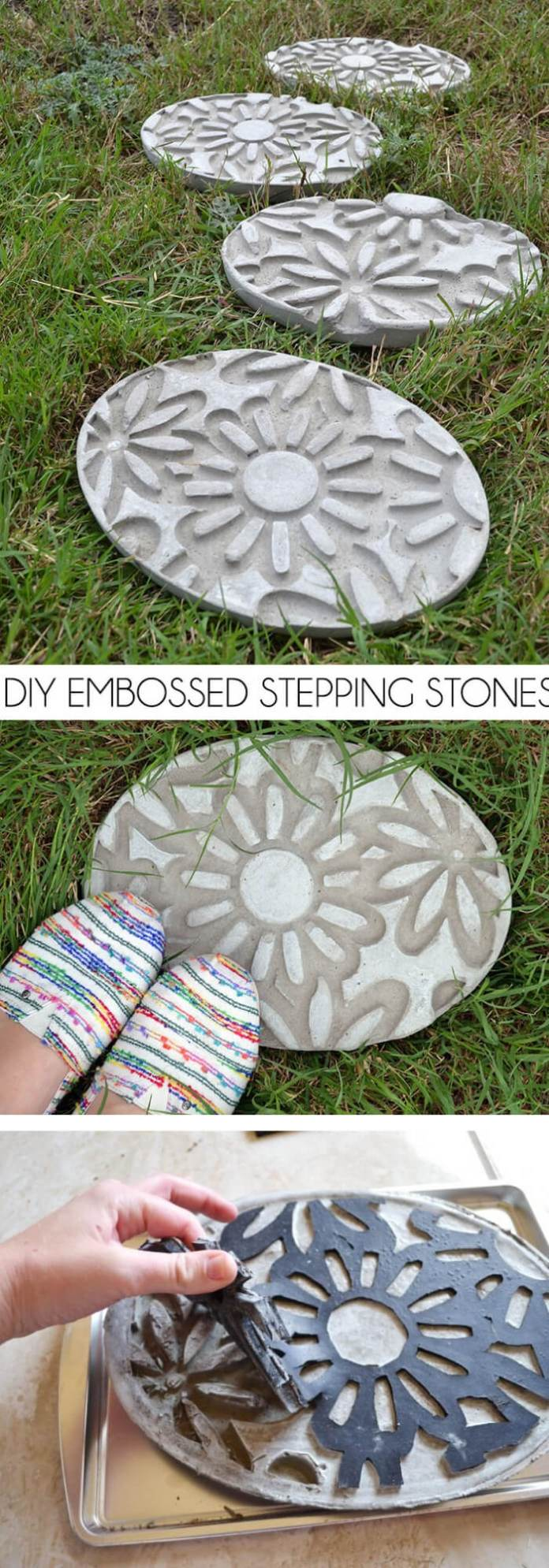 Embossed Stepping Stone