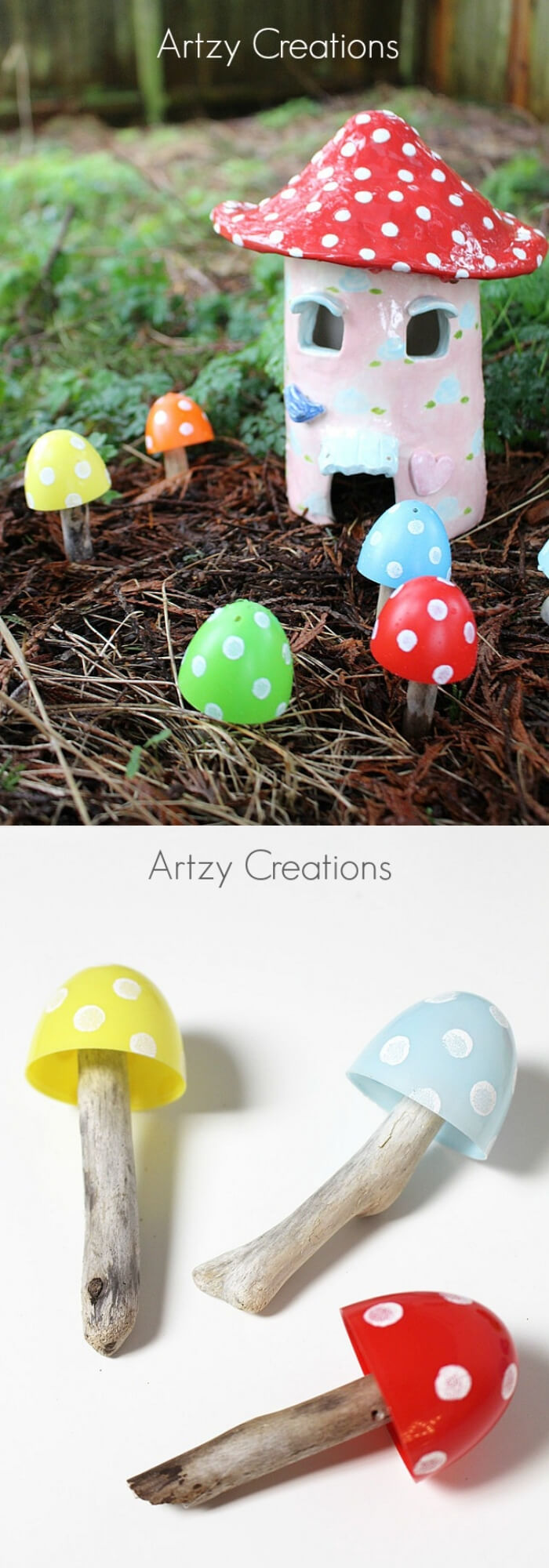 Recycled Plastic Easter Egg Toadstools | Creative Easter Garden Projects & Ideas Your Kids Will Love