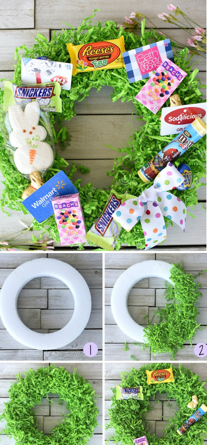 Easter Basket Wreath | Fun & Creative Easter Basket Ideas