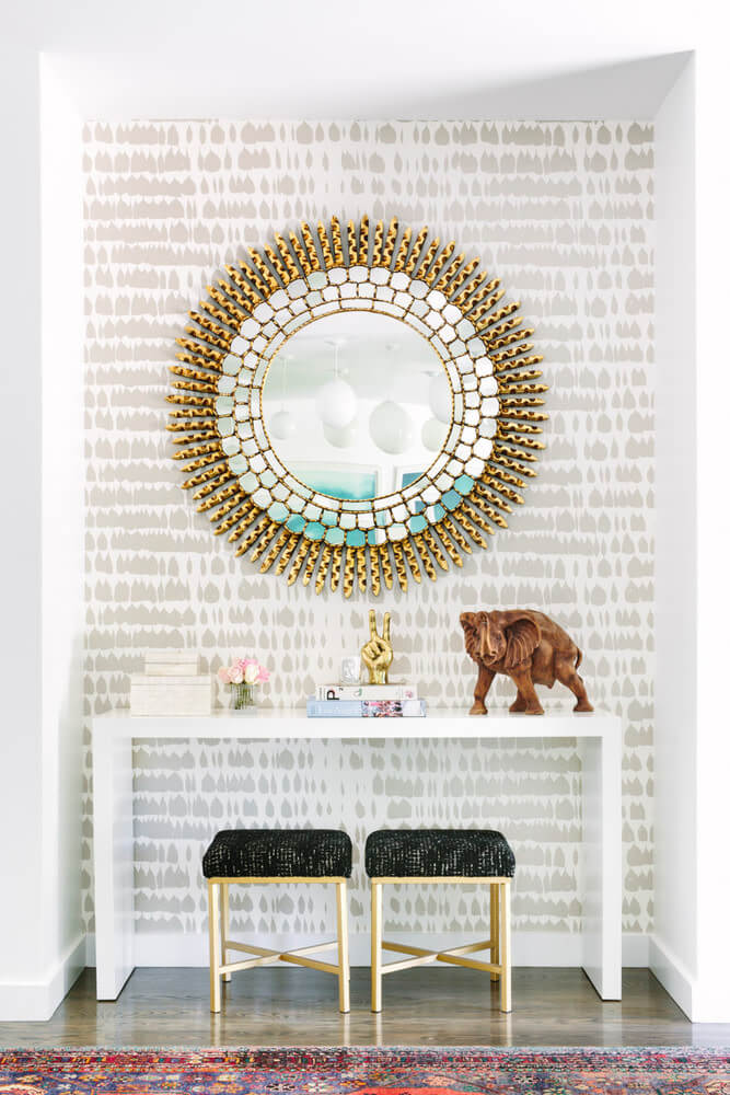 An intricate mirror | Best Entryway Mirror Decor Ideas