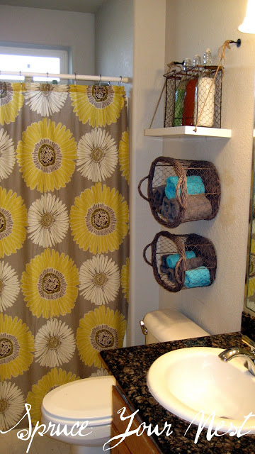 Hanging Baskets and shelf | Best Over the Toilet Storage Ideas for Bathroom