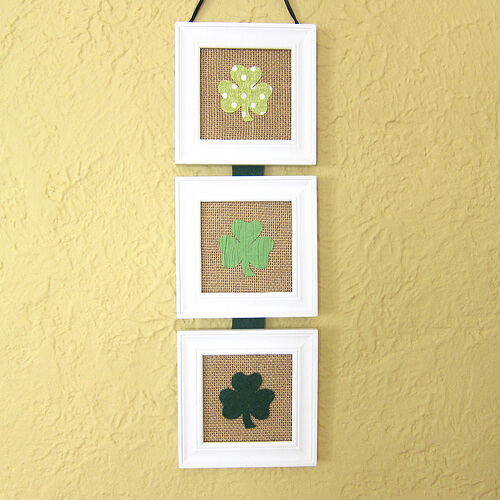 Shamrock Wall Hanging | Creative St. Patrick's Day Decor Ideas