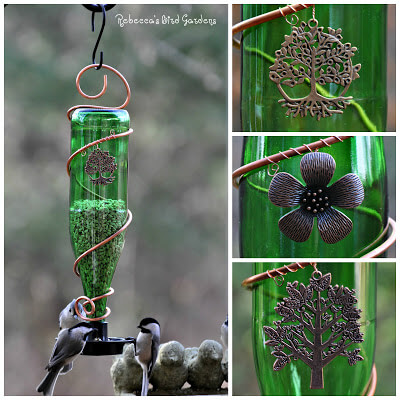 Glass Bottle Bird-Feeders