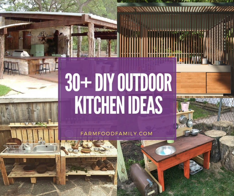 31+ Stunning Outdoor Kitchen Ideas & Designs (With ... on Patio Kitchen Diy  id=28255