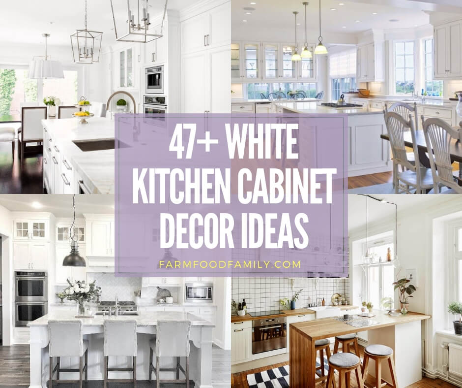 Decorating Over Kitchen Cabinets: 47+ Stunning White Kichen Cabinet Decor Ideas (With Photos