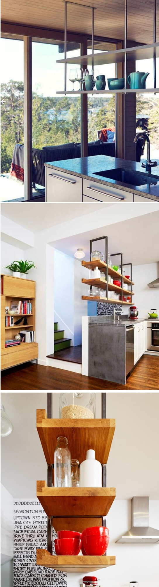 Hanging Shelf Over the Kitchen Island