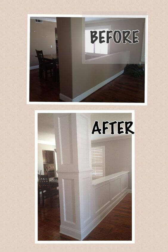 Half Wall Face Lift | Amazing Wainscoting Ideas for Your New Home