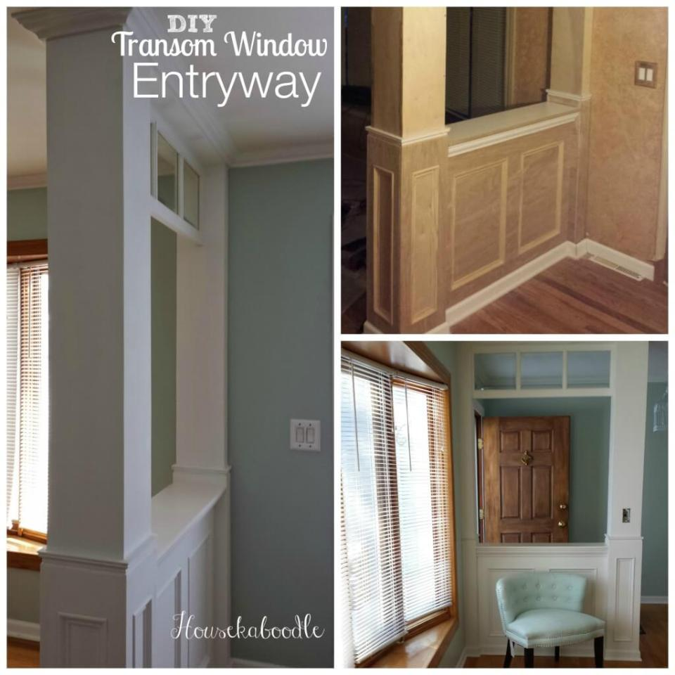 Transom Window Entryway | Amazing Wainscoting Ideas for Your New Home